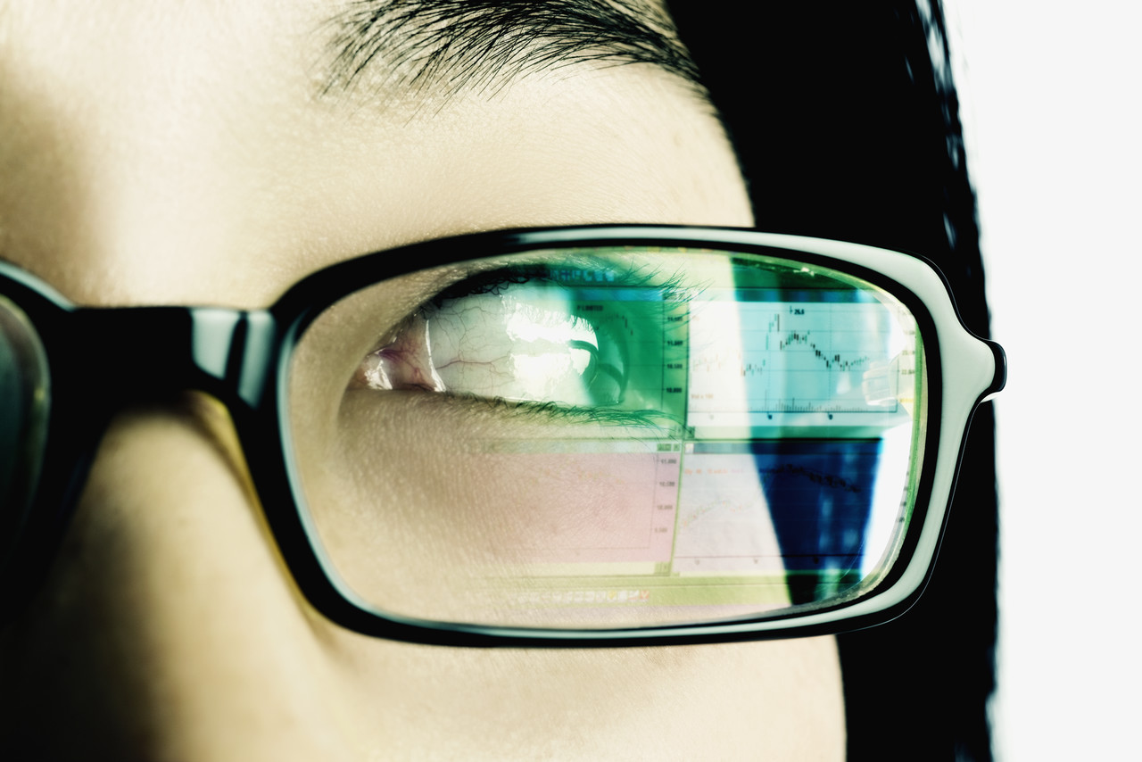eyeglasses with computer screen glare