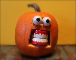Pumpkin with dentures from Oh Montreal blog