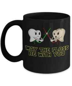 may the floss be with you mug