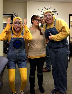 Minions with Hipster Belle Halloween Costume