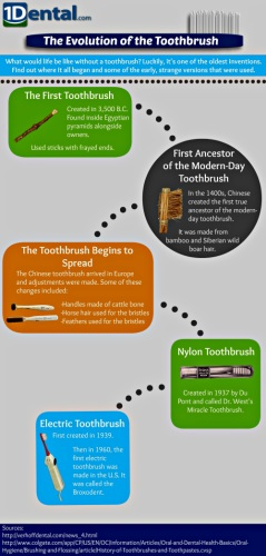The Evolution of the Toothbrush