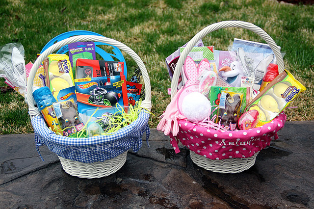 A healthier easter for your grandchildren 1dental blog easter baskets for girl and boy negle Image collections