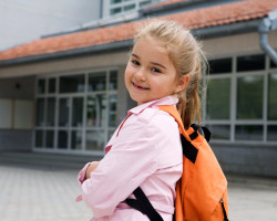 Young Girl On Her Way to School