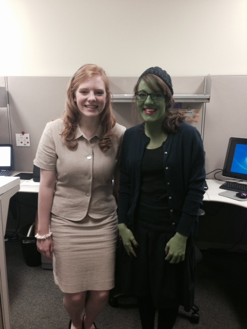 Glenda and Elphaba From Wicked For Halloween 2014