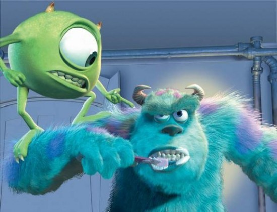 Kids Dental Care In The Movies: Mike And Sulley