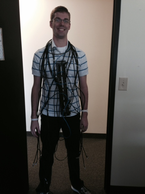 Server Room Cable Monster For Halloween 2014