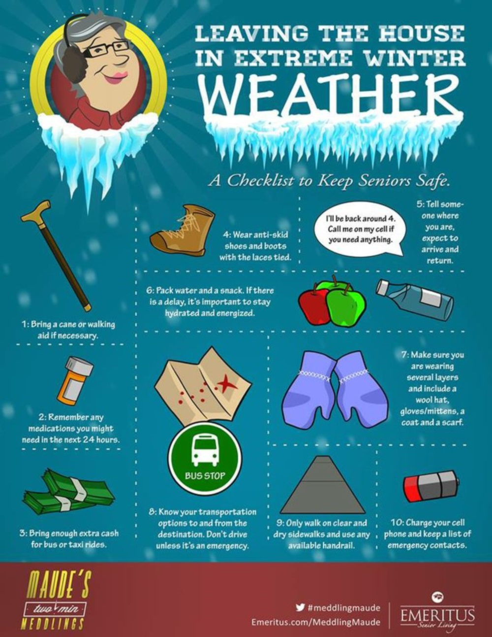 Pics photos winter walking safety tips