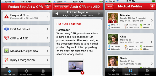 Pocket First-Aid and CPR Caregiving App