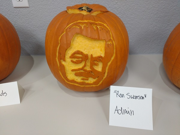 1Dental Admin Ron Swanson Pumpkin Carving