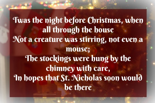 Night before Christmas poem