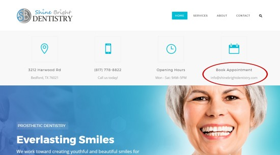 Shine Bright Dentistry online appointment