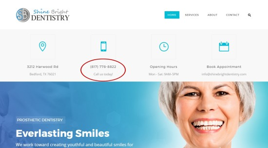 Shine Bright Dentistry phone number