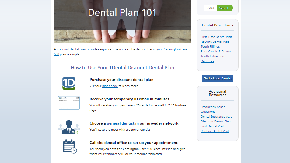 Dental Plan 101 snippet