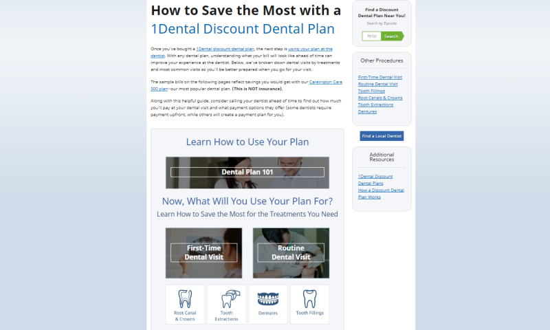 Dental Plan Savings Resource Preview