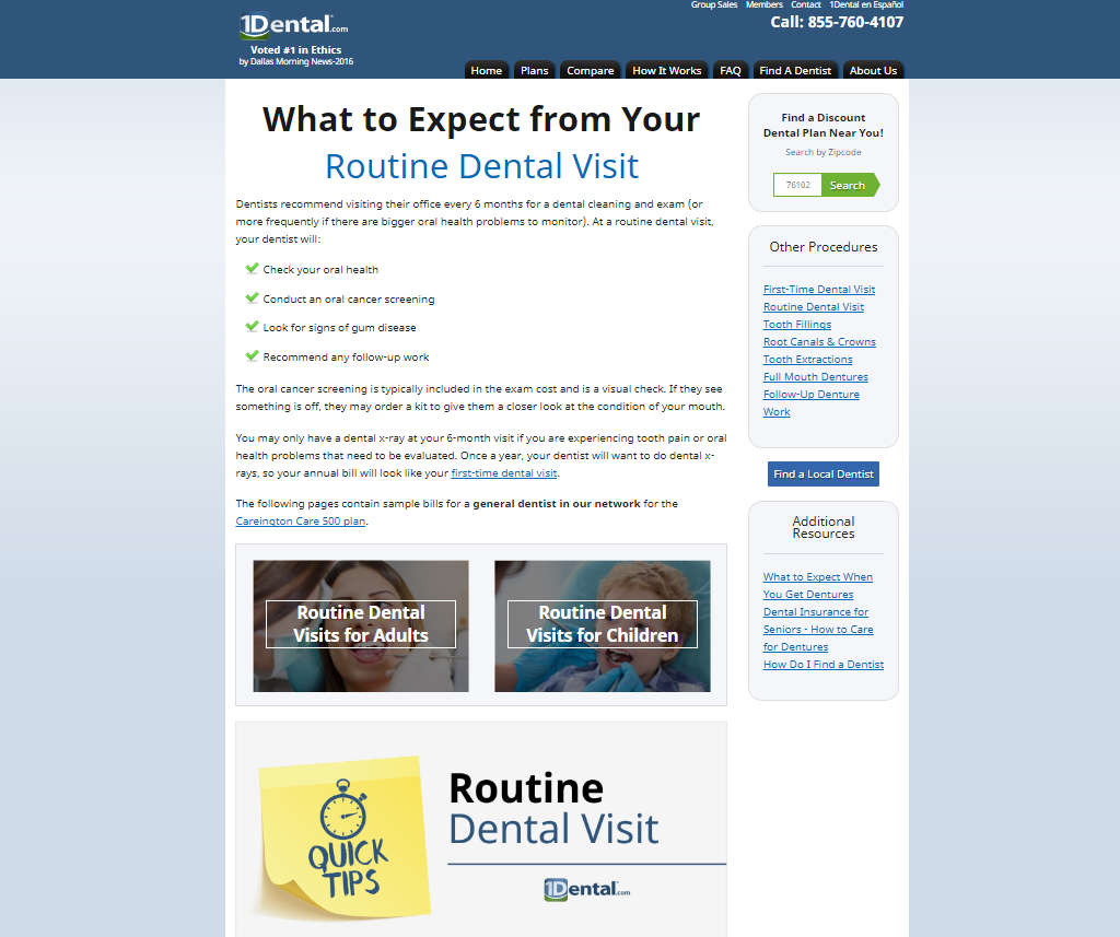 Routine Dental Visit