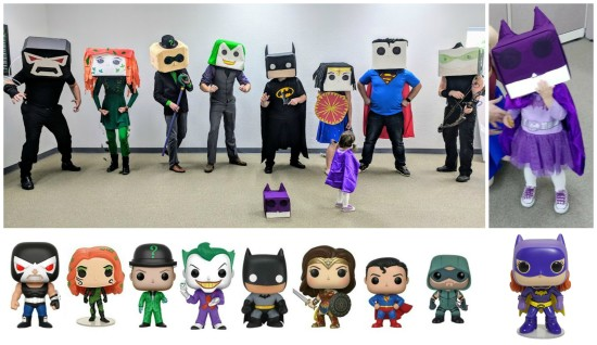 DC Comic Funko Pop Dolls Group Halloween Costume Idea