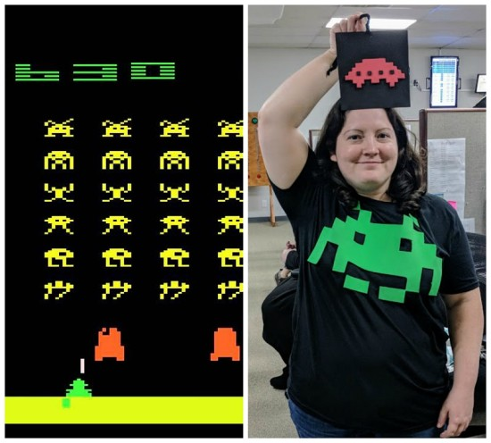 Space Invader Halloween Costume Idea