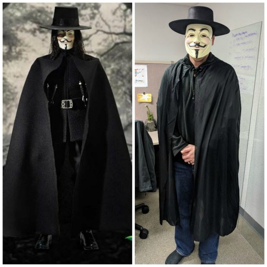 V for Vendetta Halloween Costume Idea