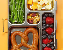Healthy Fruit and Cheese Lunch Box - Back to School Lunches