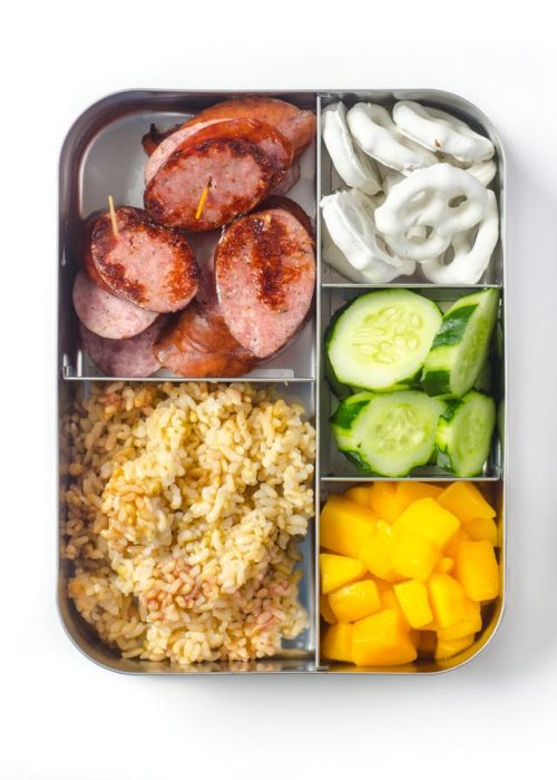 Sausage and Rice Lunch Box
