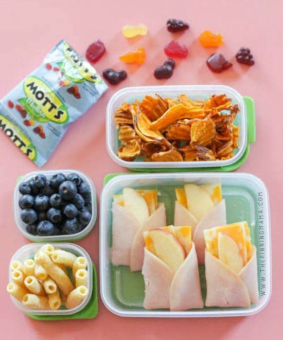 Turkey Apple Cheese Lunch Box Idea