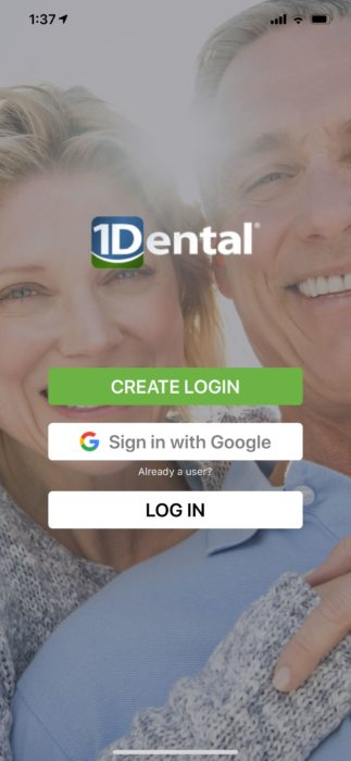 1Dental App Log In Page